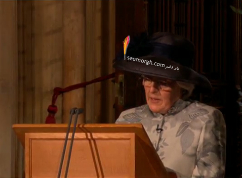 خواهر پرنسس دايانا به جاي او در حال سخنراني است