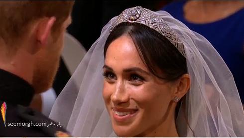 تاج مگان مارکل Megan Markle در مراسم عروسي اش