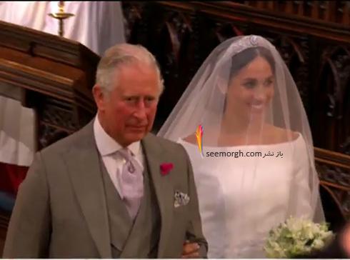 شاهزاده چارلز به جاي پدر مگان او را همراهي کرد