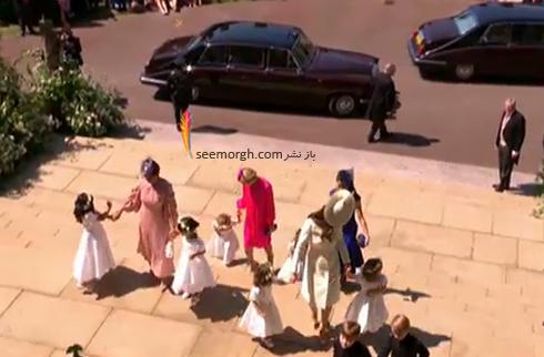 کيت ميدلتون Kate Middleton و فرزندان در مراسم عروسي مگان مارکل Megan Markle و پرنس هري Prince Harry