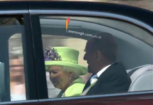 لحظه وارد شدن ملکه به کاخ سلطنتي