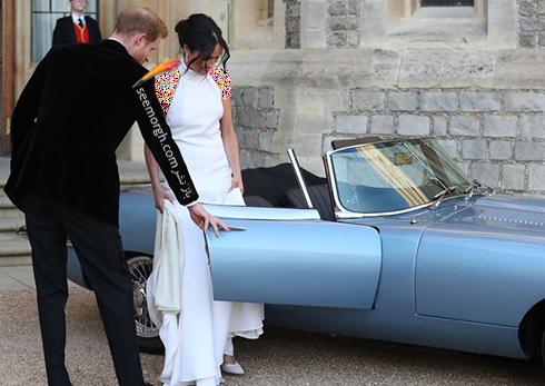 مگان مارکل Meghan Markle و پرنس هری Prince Harry در حال رفتن به میهمانی شام مراسم عروسی شان - عکس شماره 4