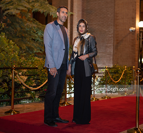 بهنام محمودی و همسرش در  ضیافت افطاری خیریه مهر لیلا