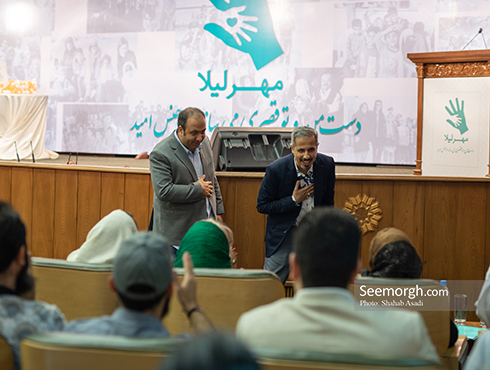 علی اوجی و جواد رضویان در ضیافت افطاری خیریه مهر لیلا 2