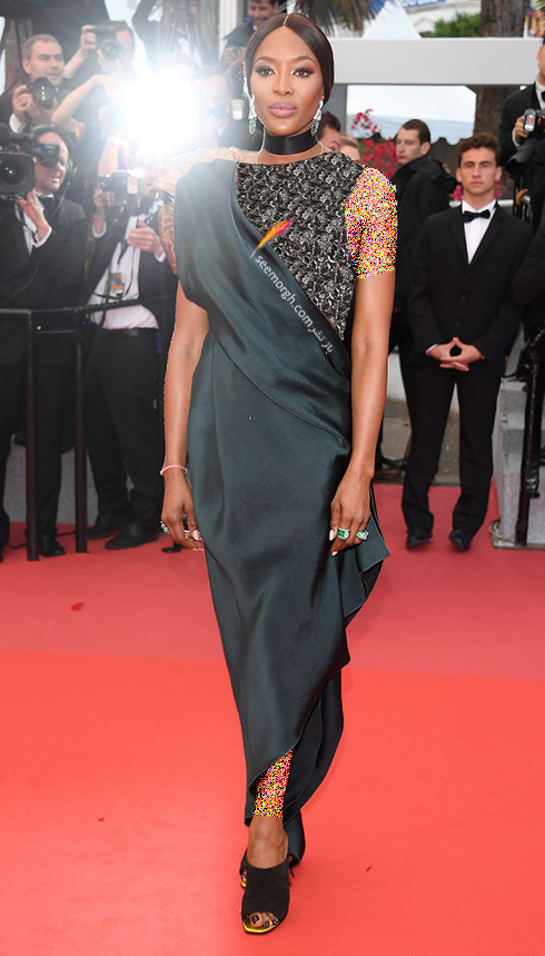 مدل لباس در هفتمین روز جشنواره کن 2018 Cannes - نائومی کمپبل Naomi Campbell