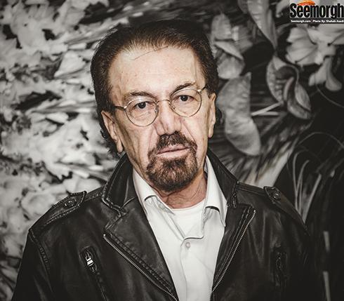 زنده یاد ناصر چشم آذر در مراسم ختم مرحوم علی معلم