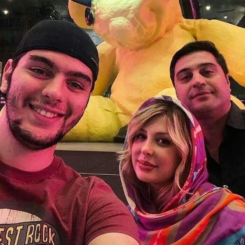 نیوشا ضیغمی در کنار همسر و برادر همسرش