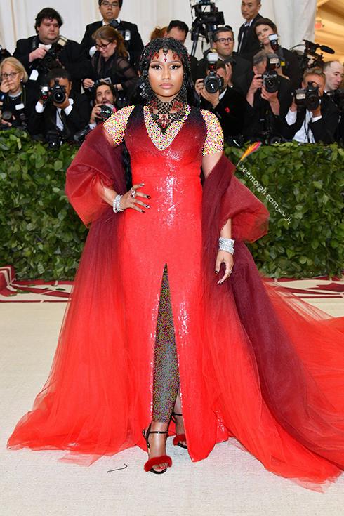 بدترین مدل لباس در مراسم مت گالا Met Gala 2018 - نیکی میناژ Niki Minaj