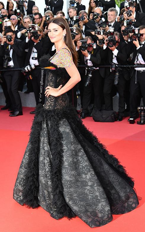 مدل لباس در افتتاحیه جشنواره کن 2018 Cannes - پنه لوپه کروز Penelope Cruz