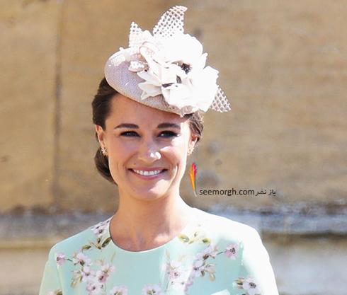 مدل کلاه پیپا میدلتون Pippa Middleton در عروسی مگان مارکل Meghan Markle و پرنس هرس Prince Harry