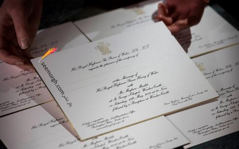 کارت مراسم عروسی مگان مارکل Meghan Markle و پرنس هری Prince Harry