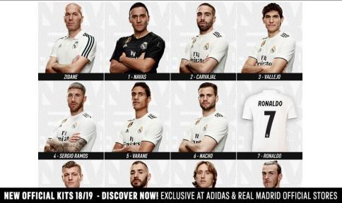 لباس فصل بعد رئال مادرید