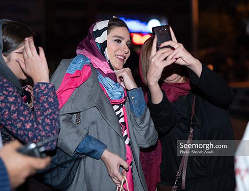 سحر دولتشاهی  در اکران مردمی چهار راه استانبول