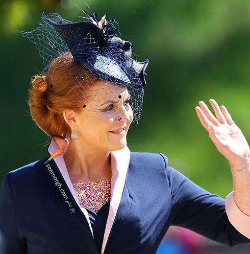 مدل کلاه سارا فرگوسن Sarah Ferguson در عروسی مگان مارکل Meghan Markle و پرنس هرس Prince Harry