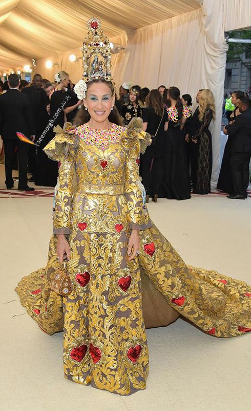 بدترین مدل لباس در مراسم مت گالا Met Gala 2018 - سارا جسیکا پارکر Sarah Jessica Parker