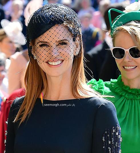 مدل کلاه سارا رافرتی Sarah Rafferty در عروسی مگان مارکل Meghan Markle و پرنس هرس Prince Harry