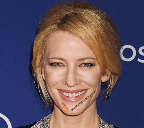 رنگ مو بلوند توت فرنگی به پیشنهاد کیت بلانشت Cate Blanchett