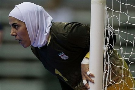 فرزانه توسلی دروازه بان تیم ملی فوتسال بانوان