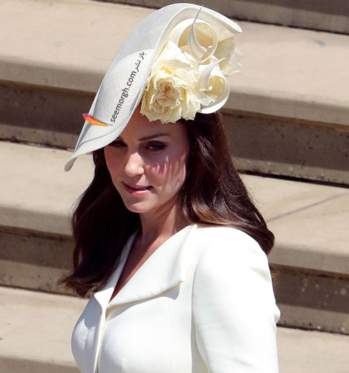 مدل کلاه کیت میدلتون Kate Middleton در عروسی مگان مارکل Meghan Markle و پرنس هرس Prince Harry