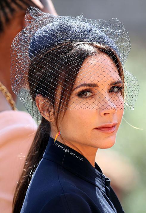 مدل کلاه ویکتوریا بکهام Victoria Beckham در عروسی مگان مارکل Meghan Markle و پرنس هرس Prince Harry
