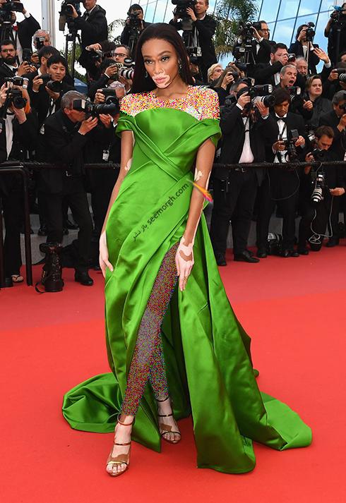 مدل لباس در هفتمین روز جشنواره کن 2018 Cannes - بوین هارلو Winnie Harlow