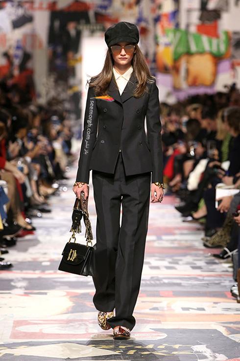 مدل کت و شلوار زنانه 2018 برند دیور Dior برای بهار - مدل شماره 3