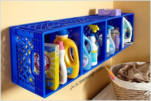 تبدیل سبد پلاستیکی میوه به کابینت لوازم بهداشتی، چگونه با سبد پلاستیکی میوه کابینت لوازم بهداشتی درست کنیم؟