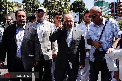 مسعود سلطانیفر وزیر ورزش در راهپیمایی روز قدس