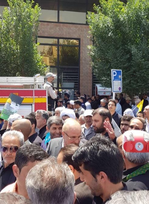 محمدباقر قالیباف در جمع راهپیمایان روز جهانی قدس در تهران