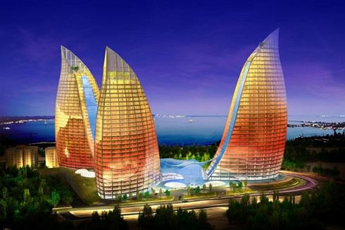 برجهای شعله باکو,جاذبه های شهر باکو, مکان های گردشگری باکو