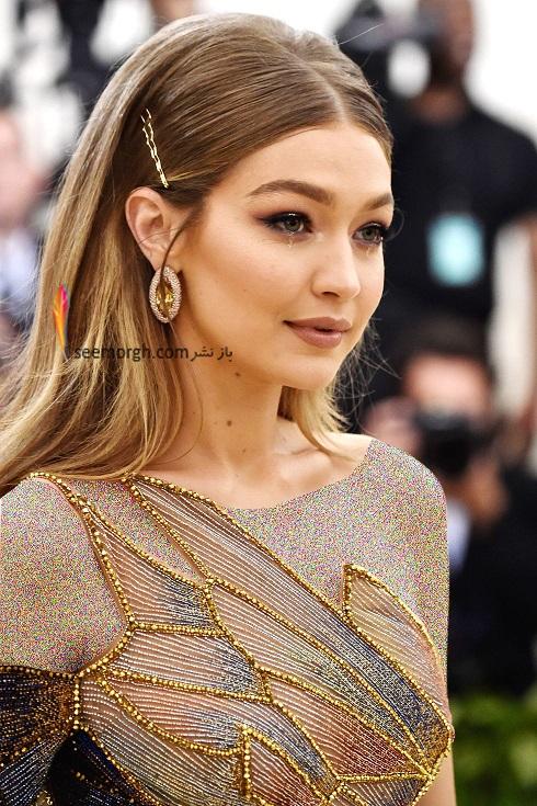گوشواره جی جی حدید Gigi Hadid از برند لورین شوارتز Lorraine Schwartz در مت گالا 2018 Met Gala