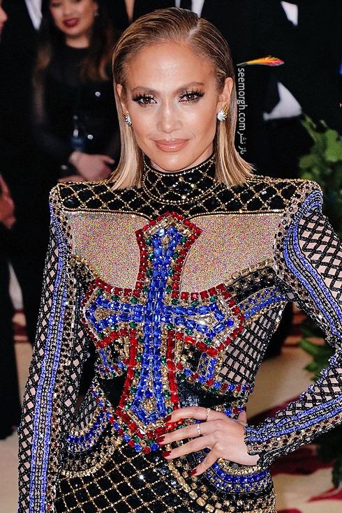 گوشواره جنیفر لوپز Jennifer Lopez از برند تیفانی Tiffany & Co در مت گالا Met Gala 2018