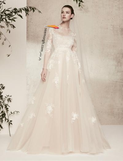 لباس عروس 2018 از برند الی ساب لباس Elie Saab برای بهار و تابستان - مدل شماره 3