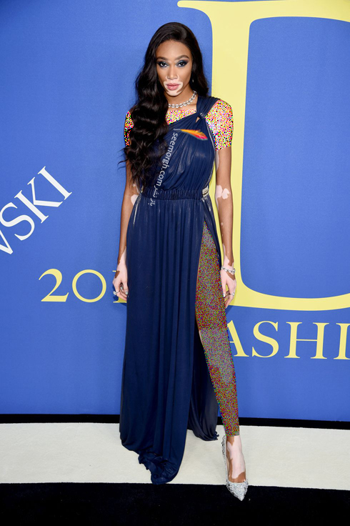 مدل لباس وینی هارلو Winnie Harlow در CFDA Awards 2018