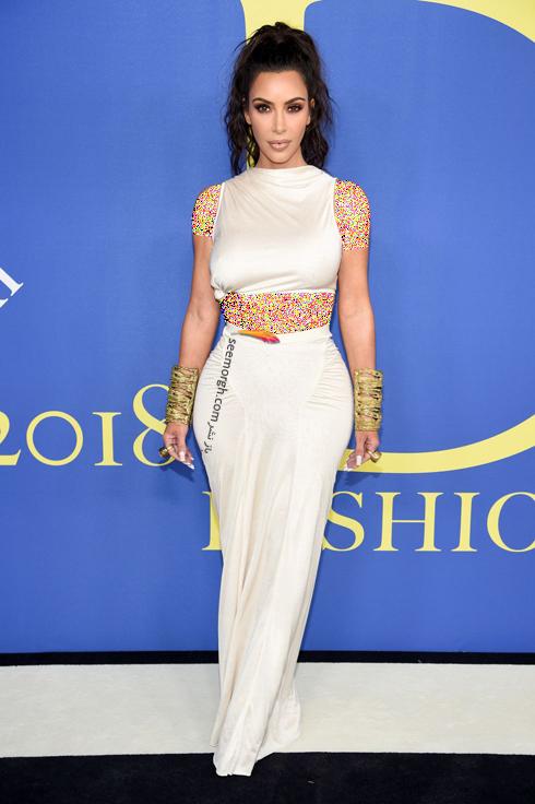 مدل لباس کیم کارداشیان Kim Kardashian در CFDA Awards 2018