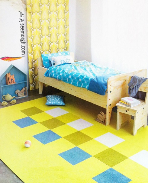 دکوراسیون اتاق کودک,دکوراسیون اتاق خواب کودک با ترکیب آبی و زرد,دکوراسیون داخلی، ترکیب رنگ، دکوراسیون داخلی منزل