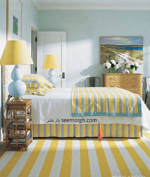 دکوراسیون اتاق, دکوراسیون اتاق با ترکیب آبی و زرد,دکوراسیون داخلی، ترکیب رنگ، دکوراسیون داخلی منزل