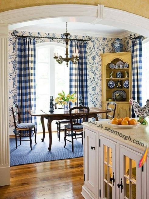 دکوراسیون آشپزخانه,دکوراسیون آشپزخانه با ترکیب آبی و زرد,دکوراسیون داخلی، ترکیب رنگ، دکوراسیون داخلی منزل