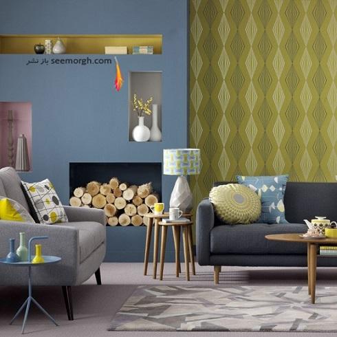رنگ آبی و زرد در دکوراسیون داخلی منزل,دکوراسیون داخلی، ترکیب رنگ، دکوراسیون داخلی منزل