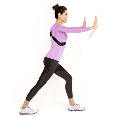 تقویت زانو با چند ورزش ساده و موثر,کشش ساق پا