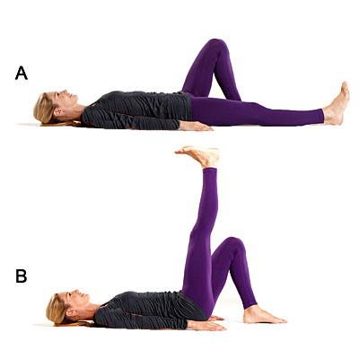تقویت زانو با چند ورزش ساده و موثر,بالا بردن پاها