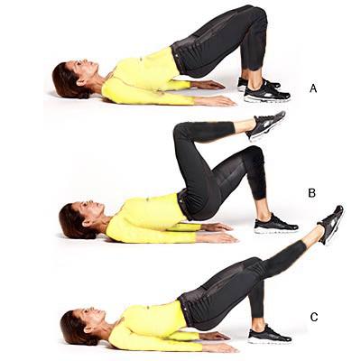 تقویت زانو با چند ورزش ساده و موثر,پل