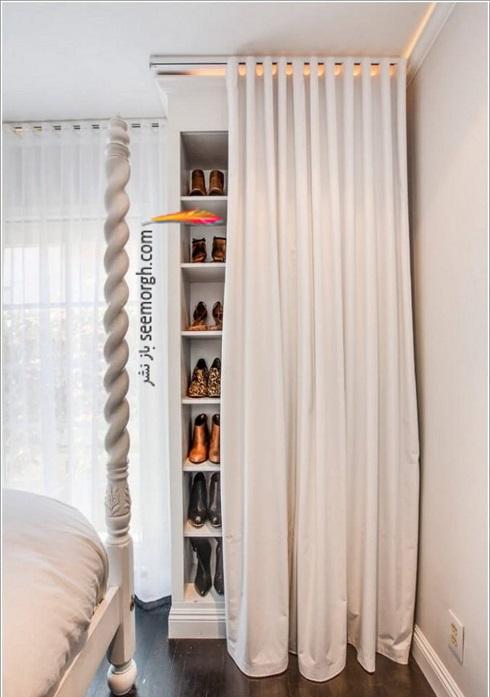 فضای مخفی در آپارتمان کوچک : فضای پشت پرده