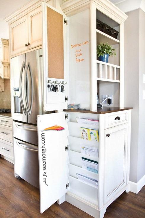 فضای مخفی در آپارتمان کوچک : جا روزنامه ایی مخفی