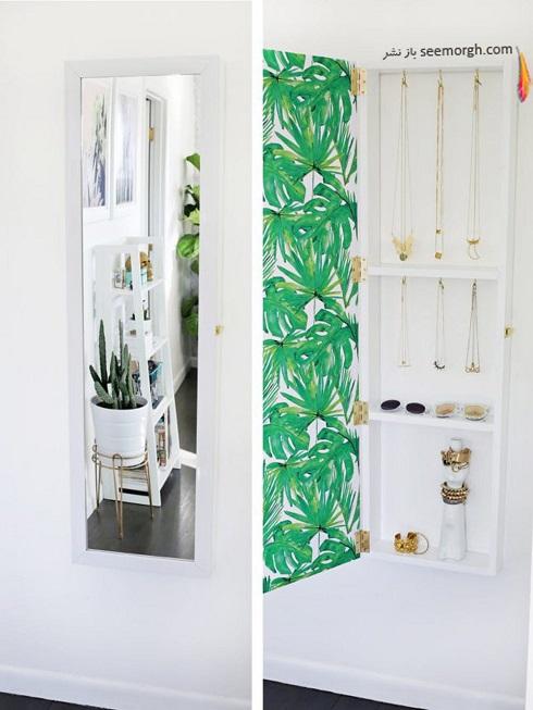 فضای مخفی در آپارتمان کوچک : فضای مخفی پشت در کمد و آینه