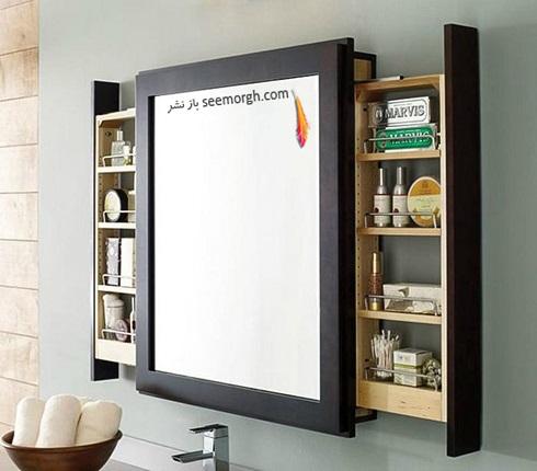 فضای مخفی در آپارتمان کوچک : فضای پشت آینه