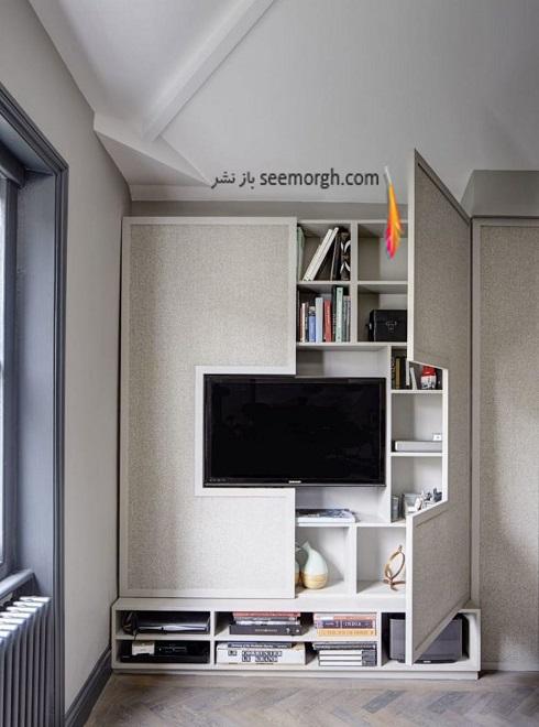 فضای مخفی در آپارتمان کوچک : پشت ال سی دی