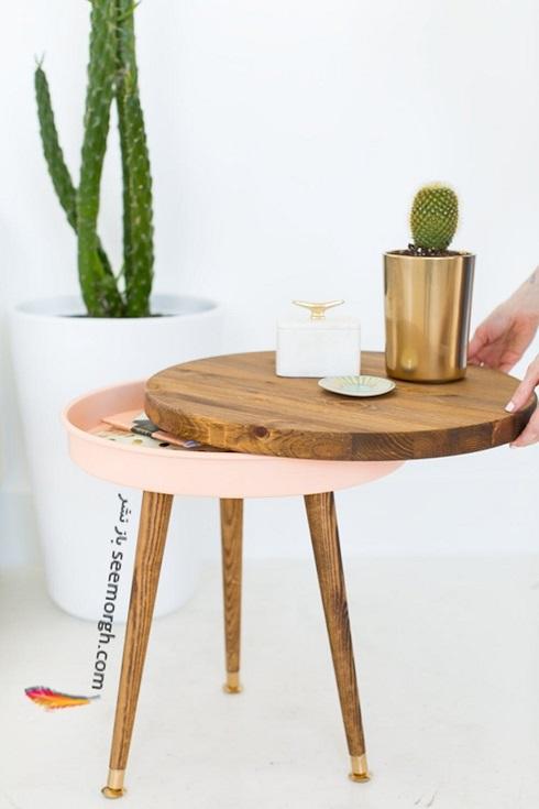 فضای مخفی در آپارتمان کوچک : زیر صفحه ی میز