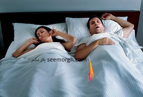 آپنه خواب,زن و مرد خوابیده,فشار خون