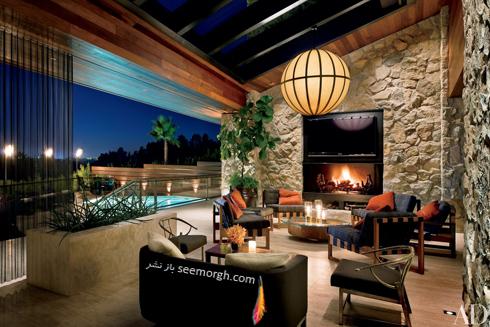 دکوراسیون داخلی خانه جنیفر آنیستون Jennifer Aniston در بورلی هیلز - عکس شماره 2
